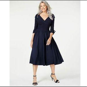 NWT - Jessica Howard Navy 3/4 Sleeve Evening Dress